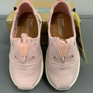 TOMS Lumin blossom chambray pink shoes New! T7